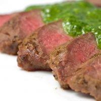 Grilled Flat-iron Steak with Chimichurri
