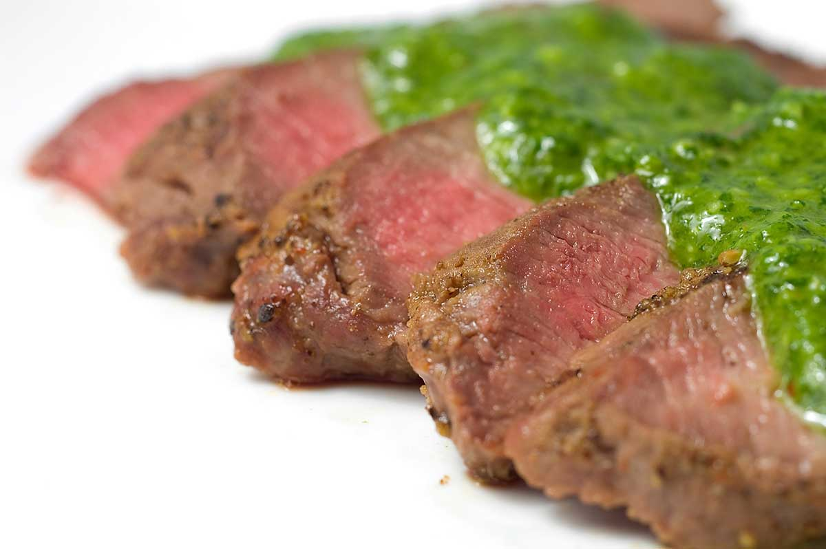 Grilled Flat-iron Steak with Chimichurri